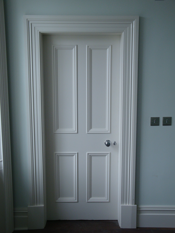 Door architrave styles oak solid chamfered architrave for Door architrave